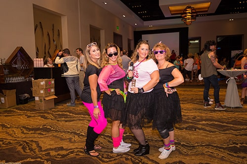 Our girls at the All-Out '80s Party