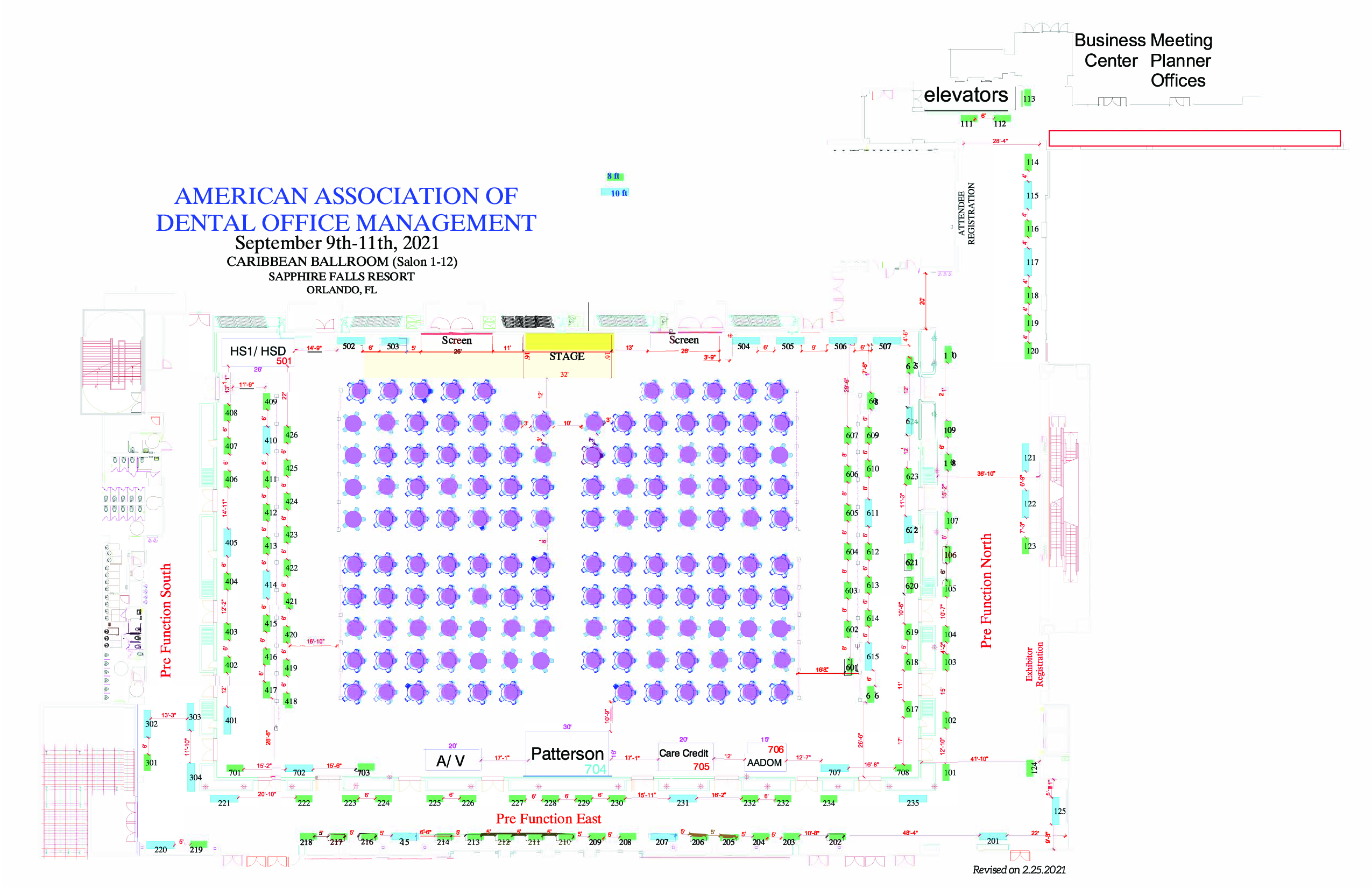 AADOM Conference Booth Location