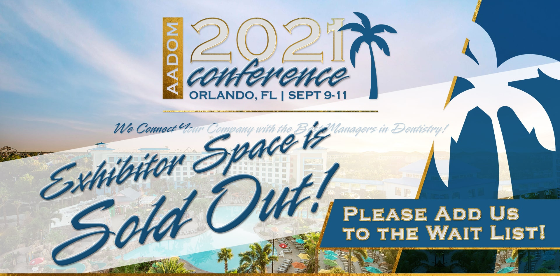 AADOM 2021 Conference Exhibitor Space is Sold Out